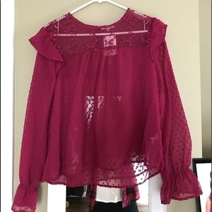 Pink Ruffled Blouse